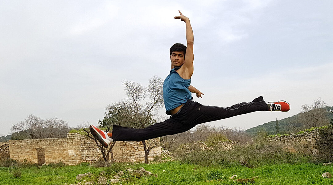 Manish leaping
