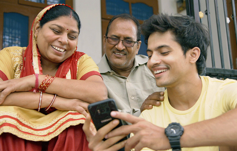 Manish with is parents